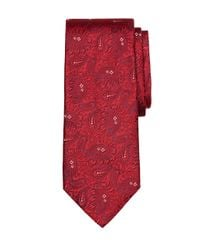 Brooks Brothers - Red Large Paisley Tie for Men - Lyst