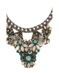 Karen Millen | Green Statement Necklace | Lyst
