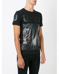 Philipp Plein - Black 'fighter' T-shirt for Men - Lyst