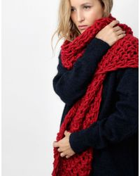 Wool And The Gang | Red Rushmore Scarf | Lyst