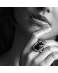 David Yurman | Albion Ring With Black Orchid And Diamonds | Lyst