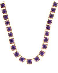 Larkspur & Hawk - Long Blue Gold-wash Amethyst Bella Riviere Necklace - Lyst
