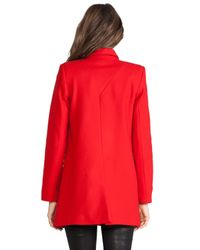 Nicholas - Red Felted Wool Coat - Lyst