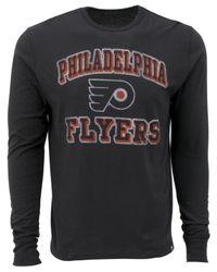 47 Brand - Gray Men's Long-sleeve Philadelphia Flyers Flanker T-shirt for Men - Lyst