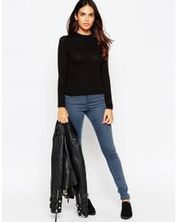 ASOS | Black Petite High Neck Long Sleeve Forever Top | Lyst