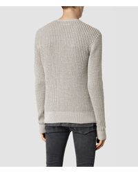 AllSaints | Gray Eydon Crew Sweater Usa Usa for Men | Lyst