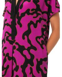 Diane von Furstenberg - Purple Firebirdprint Dress - Lyst