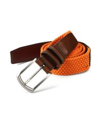 Saks Fifth Avenue | Orange Braided Belt for Men | Lyst