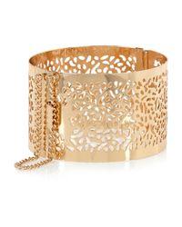 River Island | Metallic Gold Tone Filigree Cuff Bracelet | Lyst