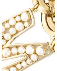 Dolce & Gabbana   Metallic Embellished Mama Necklace   Lyst