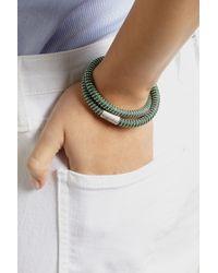 Carolina Bucci - Green Nspcc Double Twister Sterling Silver And Silk Wrap Bracelet - Lyst