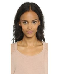 Gorjana - Metallic Lucia Asymmetrical Necklace - Gold/clear - Lyst