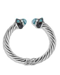 David Yurman | Metallic Renaissance Bracelet With Blue Topaz & Turquoise | Lyst