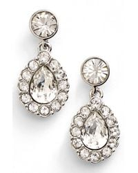 Givenchy | Metallic Pear Halo Drop Earrings | Lyst