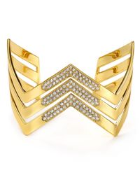 Ralph Lauren | Metallic Lauren Chevron Bangle | Lyst