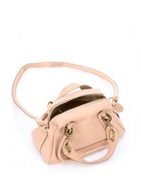 Chloé | Pink Blush Nude Leather Mini 'Paraty' Convertible Top Handle Bag | Lyst