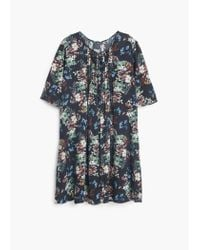 Mango | Blue Floral Print Dress | Lyst