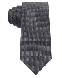 Calvin Klein | Gray Silk Dot Print Tie for Men | Lyst