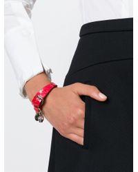 Alexander McQueen | Pink Double Wrap Skull Bracelet | Lyst