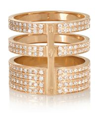 Repossi | Pink Berbère 18-Karat Rose Gold Diamond Ring | Lyst