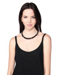 Pieces - Black Necklace / Longcollar - Lyst