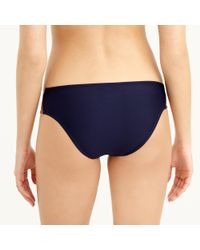 J.Crew - Blue Metallic Colorblock Hipster Bikini Bottom - Lyst