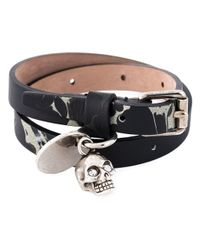 Alexander McQueen | Metallic Wrap Around Skull Bracelet for Men | Lyst