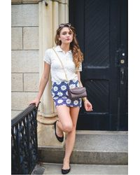Lauren Cecchi New York - Metallic Luxe Black Large Cross Body Bag - Lyst