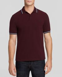 Fred Perry - Purple Tipped Logo Polo - Regular Fit for Men - Lyst