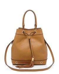 MILLY | Brown Shoulder Bag - Astor Drawstring Bucket | Lyst