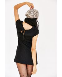 Kimchi Blue - Black Damask Empire Mini Dress - Lyst