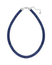 Swarovski | Blue Stardust Gradient Necklace | Lyst