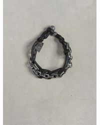 John Varvatos | Black Silver Interlock Bracelet for Men | Lyst