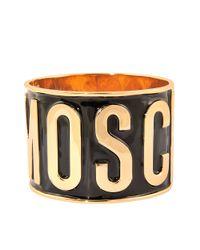 Moschino | Metallic Enamel Cuff | Lyst