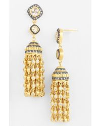 Freida Rothman | Metallic Tassel Drop Earrings | Lyst