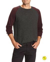 Banana Republic | Gray Factory Merino Raglan Pullover for Men | Lyst
