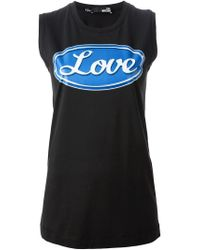 Love Moschino - Black Love Print Top for Men - Lyst