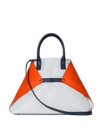 Akris - Orange Ai Medium Tricolor Messenger Bag - Lyst