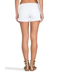 Joe's Jeans - White Rolled Short in Pennie - Lyst