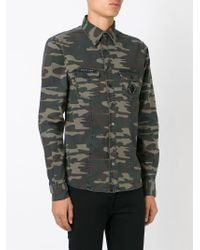Philipp Plein - Green 'moto' Shirt for Men - Lyst