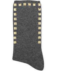 Alto Milano | Gray Stud Short Socks | Lyst