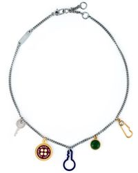 Marc By Marc Jacobs | Metallic Charm Necklace | Lyst