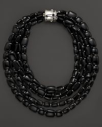 John Hardy - Batu Bamboo Fiverow Black Obsidian Necklace 18 - Lyst