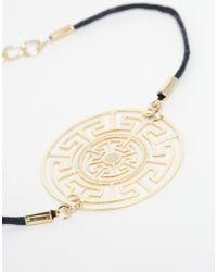 ASOS | Blue Cut Out Disc Cord Bracelet | Lyst