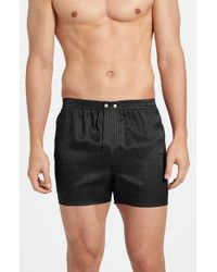 Derek Rose | Black 'woburn' Silk Boxers for Men | Lyst