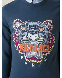 KENZO   Blue 'tiger' Sweatshirt for Men   Lyst