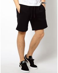 PUMA | Black Sweat Shorts for Men | Lyst