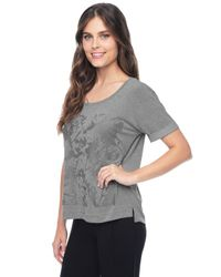 Splendid | Gray Bronx Graphic Tee | Lyst