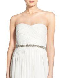 Nestina Accessories - White 'nadege' Crystal Bridal Sash - Lyst