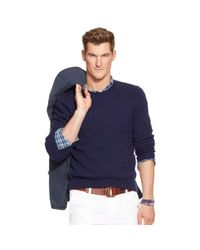 Polo Ralph Lauren - Blue Cable-knit Cashmere Sweater for Men - Lyst